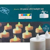 Светодиодные свечи на батарейки 24 штуки в наборе, фото 1