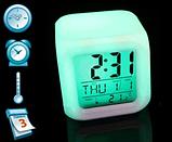 Светодиодные часы с будильником и термометром Хамелеон  ., фото 2