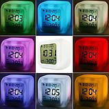 Светодиодные часы с будильником и термометром Хамелеон  ., фото 4