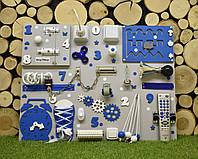 Развивающая доска Бизиборд Модель 50*65! синий с пультом