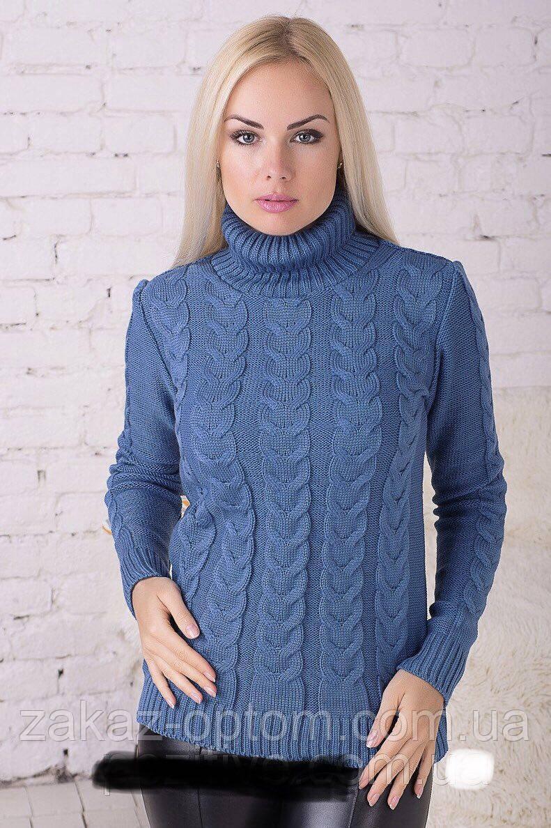 Свитер женский вязаный оптом (44-52)Украина-63430