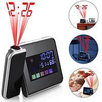 Настольные часы с проектором времени Color Screen Calendar., фото 1