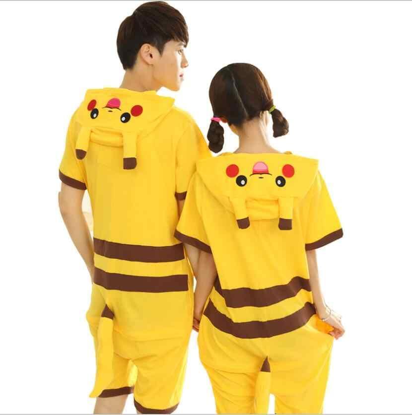 Кигуруми летнее Пикачу для взрослых, пижама кигуруми Пикачу лето