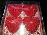 """Набор свечек сердца """"Розы"""", фото 2"""