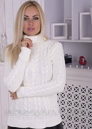 Свитер женский вязаный оптом (44-52)Украина-63434, фото 2