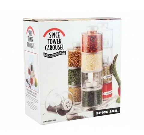 Набор баночек для специй Spice Tower Carousel из 6 сосудов.