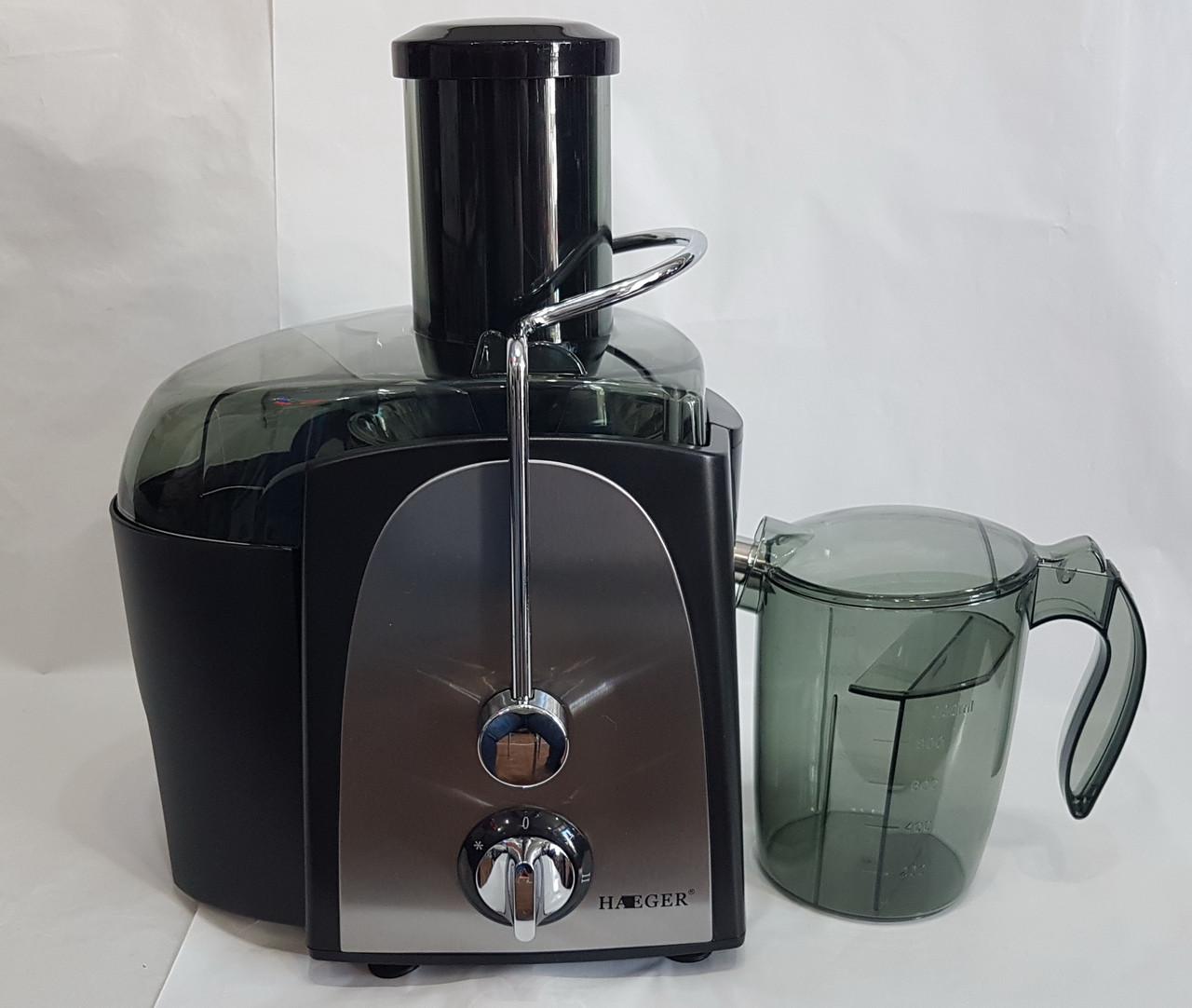 Соковыжималка HAEGER HG-2811 электрическая для твердых овощей и фруктов 1200W