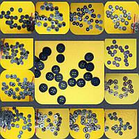 Пуговица с джинсовой текстурой  на 4  прокола (удара)  PG117 12 мм (100 шт, разные цвета), фото 1