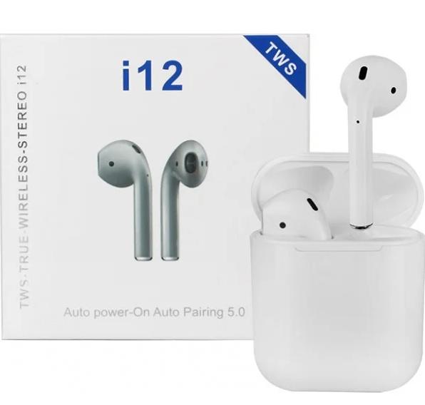 Высококачественный аналог беспроводные наушники i12 TWS Bluetooth