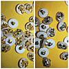 "Пуговицы ""Бантик"" на ножке PG222 (100шт, №20/13мм, разные цвета)"