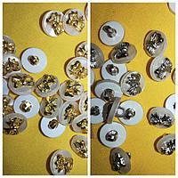 """Пуговицы """"Бантик"""" на ножке PG222 (100шт, №20/13мм, разные цвета), фото 1"""