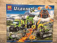 """Конструктор URBAN Bela 10641 (Аналог Lego City 60124) """"База исследователей вулканов"""" 860 деталей"""