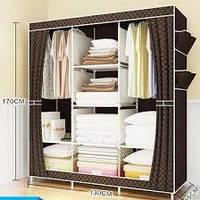 Многофункциональный шкаф-органайзер для вещей 130*45*170 см HCX-153NT., фото 1