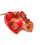 """Поздравительные открытки """"Валентинки''  фигурные сердца большие (7x7,5 см, 160 шт в блистере)., фото 2"""