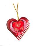 """Поздравительные открытки """"Валентинки''  фигурные сердца маленькие (5,7x5,8 см, 200 шт в блистере)., фото 2"""