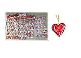 """Поздравительные открытки """"Валентинки''  фигурные сердца маленькие (5,7x5,8 см, 200 шт в блистере)., фото 3"""