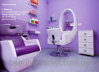 Парикмахерское кресло Orlando, Мойка парикмахерская Techno, Дизайнерское рабочее место MT-1081, Тележка мастера Rialto, Подставка для ног S-080