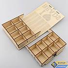 Органайзер для бисера из дерева для вышивки на 16 ячеек (КДв-07-8), фото 5