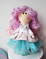 Авторская кукла Белль большеножка ручной работы. Материал хлопок, трикотаж и фатин. Искусственные волосы.