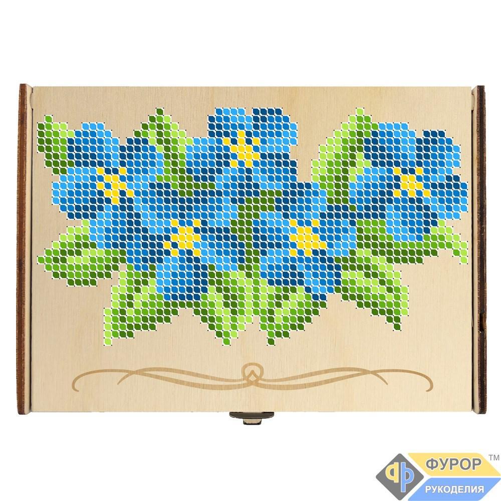 Шкатулка для вышивки деревянная 1 отделение (КДв-01-4)