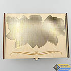 Шкатулка для вышивки деревянная 1 отделение (КДв-01-4), фото 2