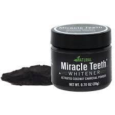 Отбеливатель зубов Miracle Teeth Whitener, черная зубная паста.