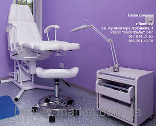 Педикюрно-косметологическое кресло КП-3 на гидравлике c подставкой, Стул мастера модель 829, Педикюрная тележка Mobi 108