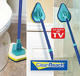 Щетка-швабра Clean Reach для уборки с тремя насадками, фото 5