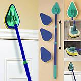 Щетка-швабра Clean Reach для уборки с тремя насадками, фото 7