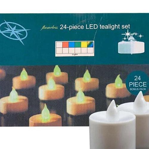 Светодиодные свечи на батарейки 24 штуки в наборе