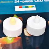 Светодиодные свечи на батарейки 24 штуки в наборе, фото 3