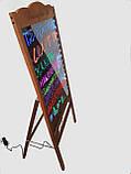 Лед штендер, светящийся мимоход, LED доска, яркая реклама, спотыкач 75x55 с фломастерами, фото 2