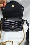Женский черный клатч LV с кошельком, с сертификатом качества 20*13 см, фото 3