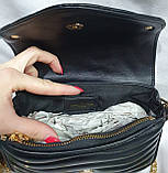 Женский черный клатч LV с кошельком, с сертификатом качества 20*13 см, фото 5
