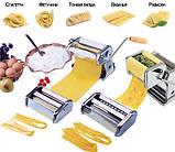 Лапшерезка тестораскатка с насадкой для равиоли Pasta Set, фото 3
