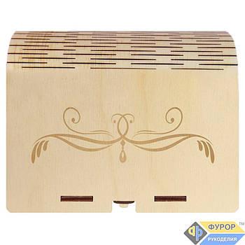 Шкатулка деревянная с гравировкой 1 отделение (КДг-06-2)