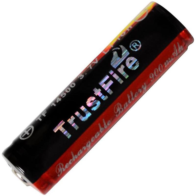 Літієвий акумулятор Li-Ion 14500 TrustFire 3.7 V (900mAh), захищений