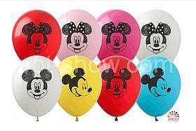 """Латексные шары с рисунком """"Микки и Минни"""" 12'' (100 ШТ) ТМ SHOW (30 СМ)"""