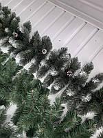Гирлянда экибана искусственная зеленая белые кончики с шишками 3 метра, фото 1