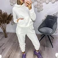Женский осенний спортивный костюм норма и батал Новинка 2020 цвет белый.