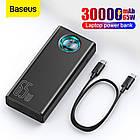 Зовнішній акумулятор для ноутбука Baseus 65W Black 30000mAh Powerbank QC PD, фото 5