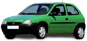 Брызговики для Opel (Опель) Corsa B 1993-2000