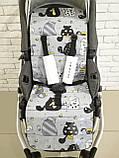 Матрас в коляску,ортопедический Кокос Ok Style Котики (Желтые), фото 2