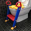 Детское сидение на унитаз со ступенькой и ручками Childr Toilet Trainer, фото 2