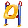 Детское сидение на унитаз со ступенькой и ручками Childr Toilet Trainer, фото 5