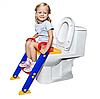 Детское сидение на унитаз со ступенькой и ручками Childr Toilet Trainer, фото 6