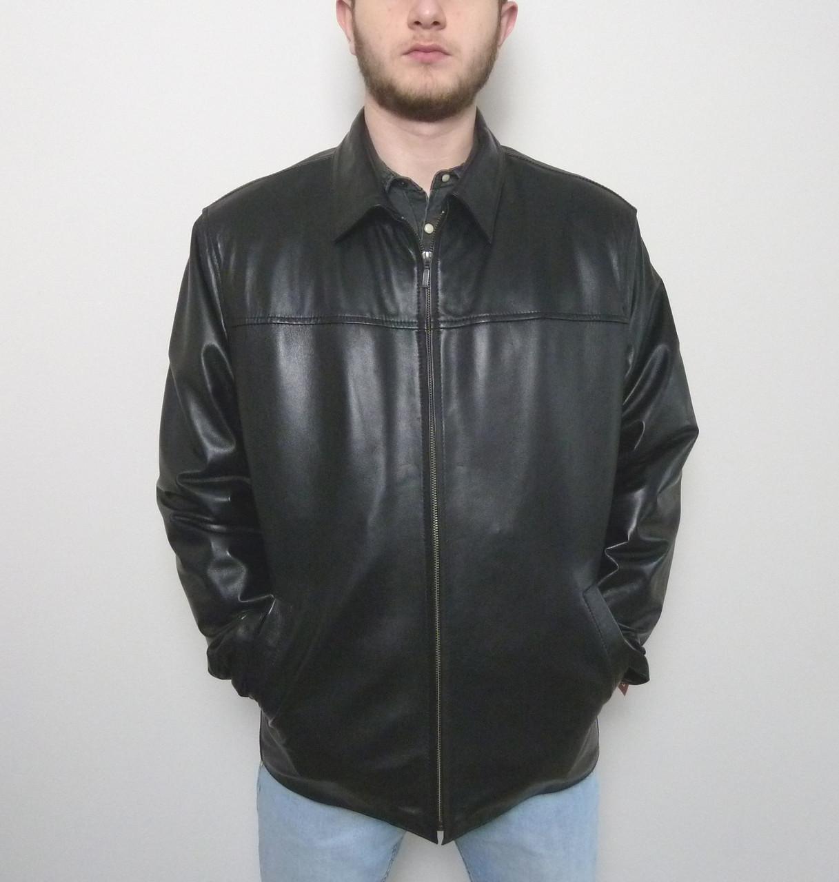 Мужская куртка Eleganza из натуральной кожи. Модель TONY+ размер XL