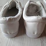 Белые теплые кеды женские білі теплі кеди жіночі, фото 4