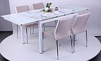 Стол Мишель обеденный B 179-34 2000/1200х800х770 база-белый/стекло-белый