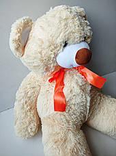 Плюшевый медведь 90 см, плюшевый мишка бежевого цвета, большая мягкая игрушка, фото 2